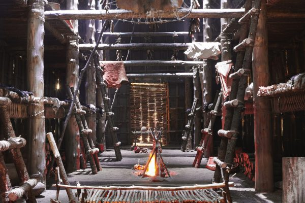 Maison longue nationale, autochtone - Musée huron wendat